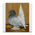 Indian Fantail Pigeon Tile Coaster