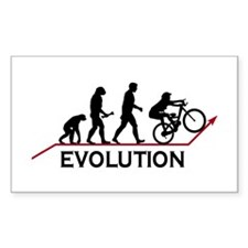 Mountain Bike Evolution Rectangle Sticker 10 pk)