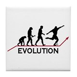 Soccer Evolution Tile Coaster