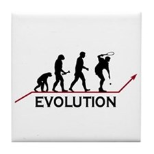 Tennis Evolution Tile Coaster