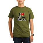 I Love Chow Chows Organic Men's T-Shirt (dark)