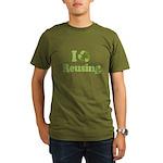 I Love Reusing Organic Men's T-Shirt (dark)