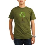 Recycling Tree Organic Men's T-Shirt (dark)