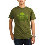 Trees are for hugging Organic Men's T-Shirt (dark)