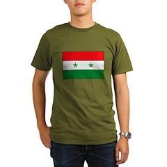 Syrian Flag Organic Men's T-Shirt (dark)