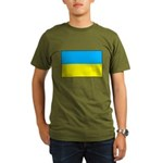 Ukranian Flag Organic Men's T-Shirt (dark)