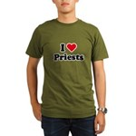 I love priests Organic Men's T-Shirt (dark)