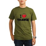 I love trance Organic Men's T-Shirt (dark)