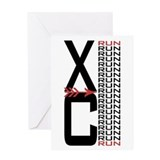 XC Run Greeting Card
