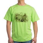 Frillback Pigeons Green T-Shirt