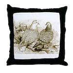 Frillback Pigeons Throw Pillow