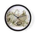Frillback Pigeons Wall Clock