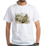 Frillback Pigeons White T-Shirt