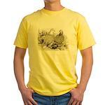 Frillback Pigeons Yellow T-Shirt