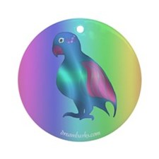 Blue Parrot Ornament (Round)