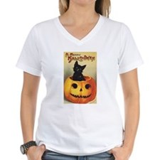 Vintage Halloween, Cute Black Cat Shirt