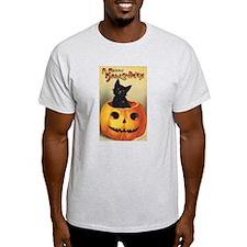 Vintage Halloween, Cute Black Cat T-Shirt