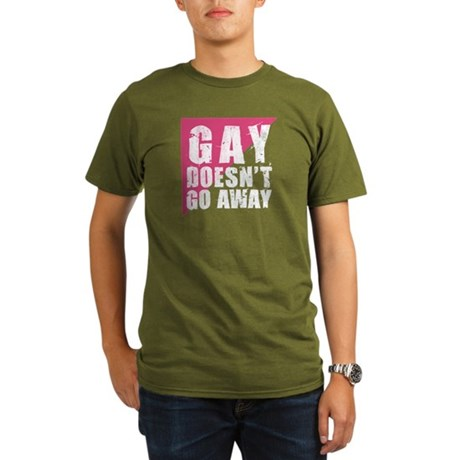 Gay Doesn't Go Away Organic Men's T-Shirt (dark)