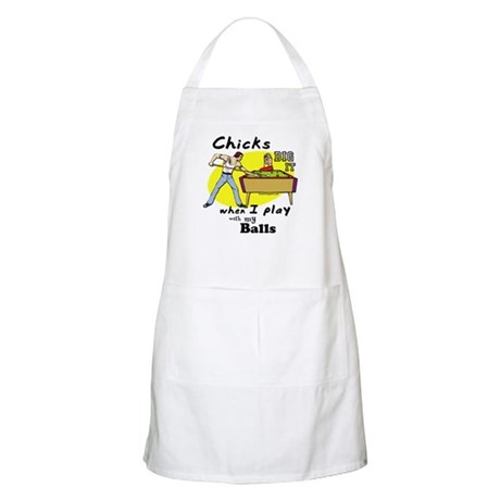 Suggestive Billiards BBQ Apron