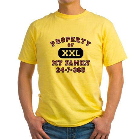 Property of Family Mom Yellow T-Shirt