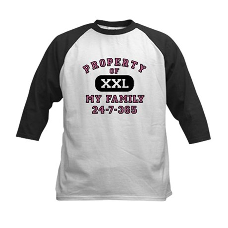 Property of Family Mom Kids Baseball Jersey