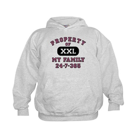 Property of Family Mom Kids Hoodie
