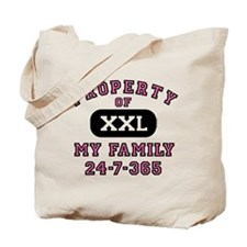 Property of Family Mom Tote Bag
