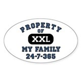 Property of Family Dad Oval Decal