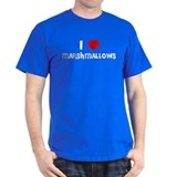 I LOVE MARSHMALLOWS Black T-Shirt