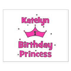 1st Birthday Princess Katelyn Small Poster