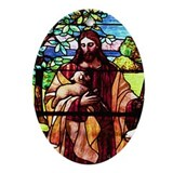 Jesus the Good Shepherd Ornament (Oval)
