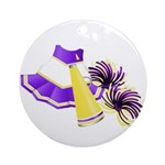 Cheerleading (Purple) Ornament (Round)