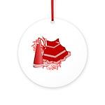 Cheerleading (Red) Ornament (Round)