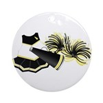 Cheerleading (Black) Ornament (Round)