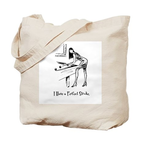 Lady Billiards Tote Bag