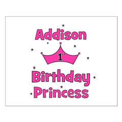 1st Birthday Princess Addison Posters