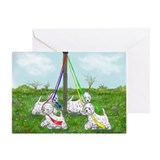 Maypole Westies Greeting Card