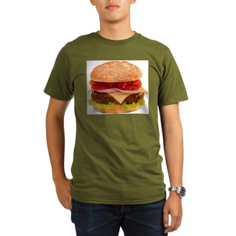 yummy cheeseburger photo Organic Men's T-Shirt (da