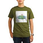 Frogs in Love Organic Men's T-Shirt (dark)