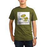 Cofee Alien Organic Men's T-Shirt (dark)