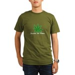 Smokin the Green (pot) Organic Men's T-Shirt (dark