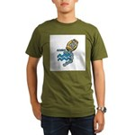 Aquarius Cool Water Design Organic Men's T-Shirt (