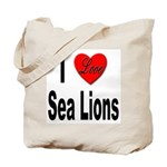 I Love Sea Lions Tote Bag