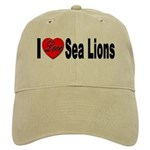 I Love Sea Lions Cap