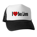I Love Sea Lions Trucker Hat