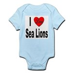I Love Sea Lions Infant Creeper