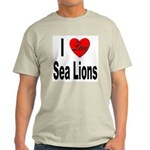 I Love Sea Lions Ash Grey T-Shirt