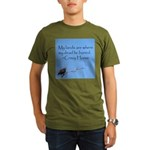 Crazy Horse Quote Organic Men's T-Shirt (dark)