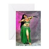 Arabian Fantasy Belly Dancer Greeting Card