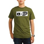 Boot Track Hiker Organic Men's T-Shirt (dark)